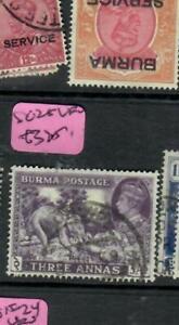 BURMA (P0202B)  KGVI  3A ELEPHANT SG 25   VFU