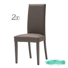 Sedia Moderna in Ecopelle color Tortora - 2 Pezzi SPEDIZIONE GRATIS