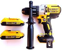 "New DeWalt DCD996 20V Brushless 1/2"" Hammer Drill, (2) DCB203 Batteries 20 Volt"
