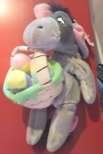 a Disney Easter Eeyore Mini Bean Bag Beanie w/tags Winnie the Pooh Basket Eggs