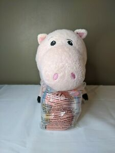 """Disney - Lot of 2 Hamm Pig 8"""" plush and 4"""" Mcdonald Squeeze toy - Toy Story"""