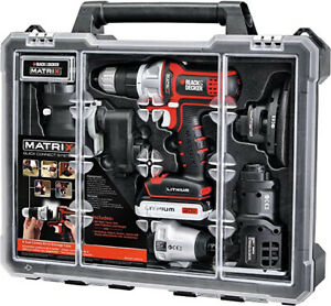 BLACK+DECKER Cordless Drill Combo Kit with Case, 6-Tool (BDCDMT1206KITC) IN HAND