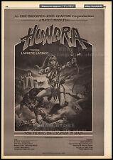 HUNDRA__Original 1982 Trade print AD / poster / movie promo__LAURENE LANDON