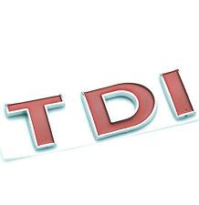 Red TDI Rear Car Boot Badge  Emblem For VW Passat CC Bora Golf Polo TDI New