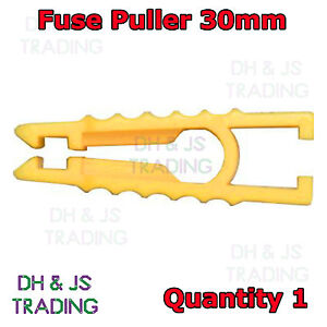 Fuse Puller Short 30mm Yellow - Car Bike Automotive Mini Micro Blade Fuse Puller