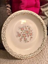 Beautiful Vintage E.C CO Serving Bowl/Floral Design/Gold Trim/High Gloss/Nice!