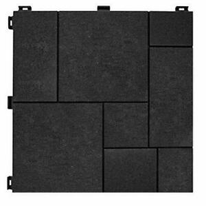 Multy Home Deck Tile 12 inch x 12 inch Mosaic Slate - 10 Pack Factory Strapped!