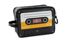 Kulturbeutel Waschtasche - Musikkassette Audiokassette - gelb Reisetasche Beutel