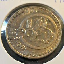 MEXICO 1981 20 PESO COIN