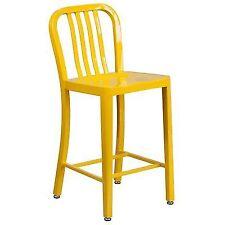 OPENBOX Flash Furniture 24 High Yellow Metal Indoor Outdoor Counter Height  Stool