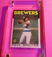 1986 Topps TIFFANY #267 Paul Molitor Brewers MINT (from sealed set)