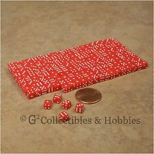 NEW 5mm 200 Red w White Pips Mini Dice Set RPG Game Miniature Tiny 3/16 inch D6