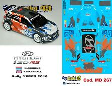 DECAL  1/43 -  HYUNDAI i20  R5  - ABBRING  - Rally  YPRES  2016