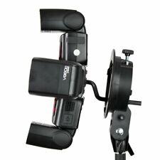 Godox S Bracket Bowens Mount + Four Speedlite Adapter Holder for Camera Flash