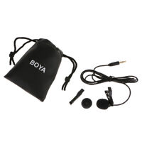 BY-LM10 Lavalier Clip Microphone Hands Free Wired Mini Recording Mic 3.5mm