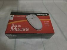 Vintage Microsoft White Basic Mouse Serial PS/2 A50-00001 Sealed
