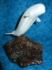 Beautiful White Beluga Whale Sculpture - Signed John Perry Sealife Statue