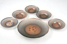 Set of 5 Japanese Handcrafted Copper Teacup Coasters Chataku Snack Plate