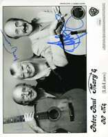 Peter Paul Mary Jsa Coa Hand Signed 8x10 Photo Autograph