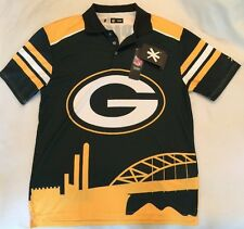 NEW Green Bay Packers L Klew Golf Licensed NFL polo men's Large Drifit Shirt