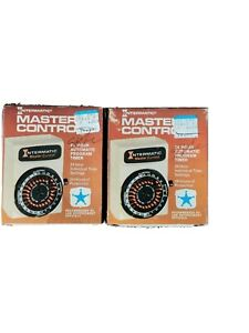 LOT OF 2 MASTER CONTROL 24 HOUR AUTOMATIC INTERMATIC D-811 PROGRAM TIMER,VINTAGE