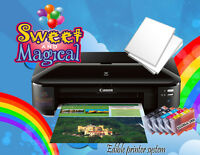 CANON WIDE FORMAT XTRA LARGE EDIBLE  PRINTER ,INK & 6 Edible Sheets of Paper