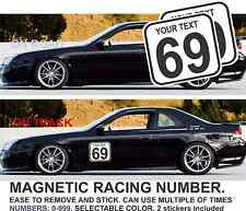 2x Race Car Number Magnetic Door JDM Prelude Rally bumber civic accord