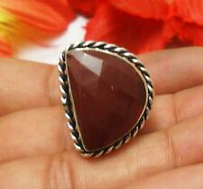 "Carnelian Gemstone Ring 925 Silver Plated UK Size S, US 9.5"" U222-G12"
