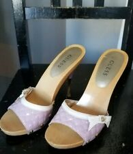 GUESS By MARCIANO Pink CARRIE Stiletto chrome Gold Heels PUMPS sz 7 1/2