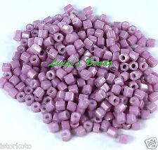 8/0 Hex TOHO Japan Glasss Seed Beads #127-Opaque-Lustered Pale Mauve 10g