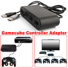 4 Port Gamecube Controller Adapter For Nintendo Wii U Super Smash Bros. PC USB