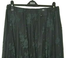 M&S Ladies Maxi Skirt Grey Lace Part Lined Sheer Hem Aline BNWT Marks