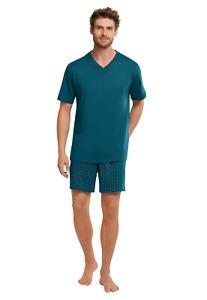 SCHIESSER premium Herren Schlafanzug Pyjama kurz Gr.48 NEU ehemaliger UVP 49,95€