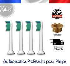 8 Brossettes Sonicare PRORESULTS compatibles brosse à dents Philips