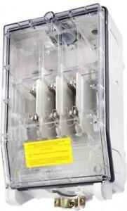 GSAB 99.00.100t Hausanschlußkasten NH00 mit transparenten Deckel