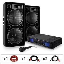 DJ PA SYSTEM DISCO CLUB KARAOKE BAR 2000W SPEAKERS MICROPHONE AMPLIFIER USB