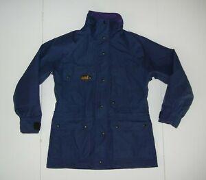 SOLSTICE Navy Blue Nylon GORE-TEX RAIN JACKET Pacific Trekking Hike Coat Women S