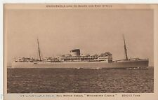 Union Castle Royal Mail Motor Vessel Winchester Castle Shipping Postcard, B521