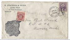 1934 US Commercial Ad Cover with 3c Postage Due - Quality Meats G Fischer*