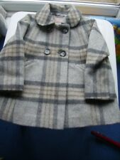 Girls /Infants check new wool mix coat from Next age 3-4 years