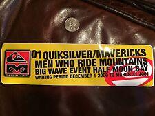 Vintage Quiksilver Mavericks Men Who Ride Surf Bumper Sticker 2000 2001 Rare