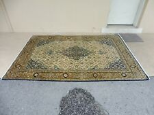 Super Fine Vintage Semi Antique Silk & Wool Qum Oriental Rug