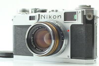 """N.MINT"" Nikon S2 Late Model Black Dial w/ Nikkor-H 50mm f/2 From JAPAN #136"