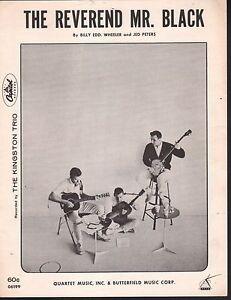 Reverend Mr Black 1963 Kingston Trio Sheet Music