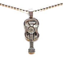 Guitar Pendant with Adjustable Chain - Necklaces - Women's Jewelry - Gift Box