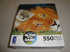 FACTORY SEALED GLOW IN THE DARK SCHIMMEL 550 PC. MOTHER AND FATHER PUZZLE