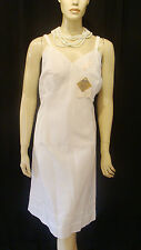 50s Vintage Wonder Maid Molded Magic White Crisp Swishy Taffeta Slip 44 Nos