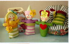 PATTERN - Pocket Petunias - felt doll with knitted pockets PATTERN - May Blossom