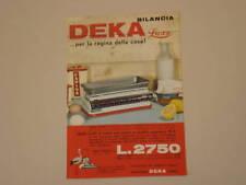 advertising Pubblicità 1962 BILANCIA DEKA