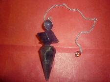 PENDOLINO GRANDE AMETISTA MERKABA SFERA pendolo divinazione wicca radiestesia